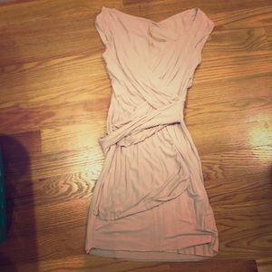 Bailey 44 pale pink jersey dress